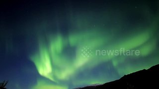 Spectacular footage of Aurora Borealis time-lapse over Iceland