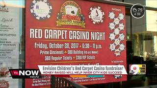 Envision Children's red carpet casino fundraiser - Video