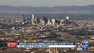 Denver ranked No. 2 on U.S. News & World's Report list of best places to live
