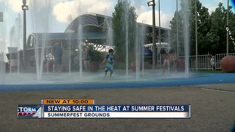 Staying safe in the heat at Milwaukee's summer festivals