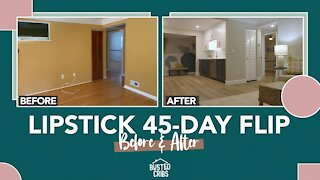 45-day Lipstick House Flip - Before and After - Busted Cribs