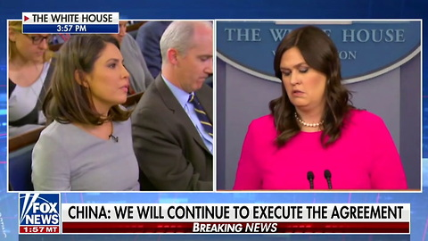 WATCH: Sarah Huckabee Sanders Skewers Reporter for Questioning Trump's Dedication to Free Press