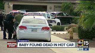 Baby found dead in hot car in Phoenix - Video