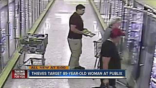 Thieves target 89-year-old woman at Publix - Video