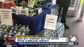 $42 water gouging Harvey victims? - Video