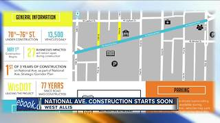 National Avenue construction project in West Allis about to get underway - Video