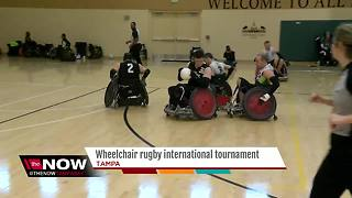 Wheelchair Rugby tournament taking place in Tampa - Video