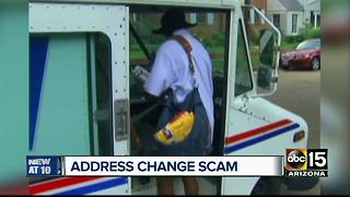 Avoid falling victim to change of address scam