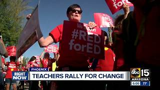 Teachers, supporters flood Arizona capitol in support of more education funding - Video