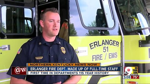 Erlanger fire department made up of full-time staff for the first time