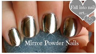 How to: Chrome powder mirror nails - Video