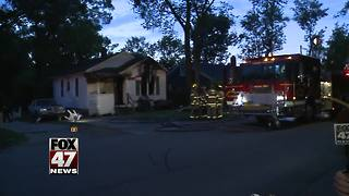 Overnight house fire in Lansing Township under investigation - Video