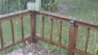 Severe Hailstorm Hits Greater Detroit Area - Video