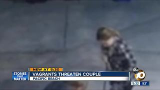 Vagrants threaten PB couple - Video