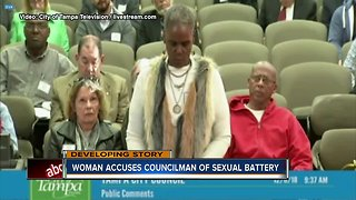 Woman accuses council member of sexual battery - Video