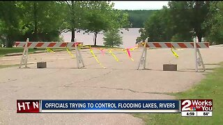 Officials trying to control flooding levels