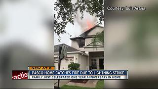 Lightning strikes home - Video