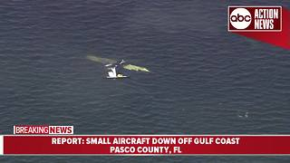 Small aircraft crashes off the Gulf coast, killing one person - Video