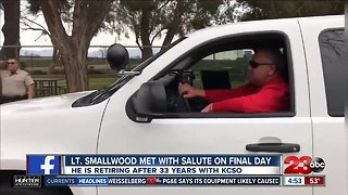 Lt. Smallwood met with salute after 33 years with KCSO