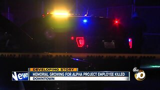 Memorial growing for Alpha Project security guard killed