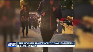 November Project Buffalo works out at Coca-Cola Field - Video