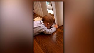 Adorable Baby Blows Raspberries - Video