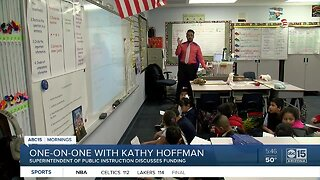 One-on-one interview with Kathy Hoffman about education and funding