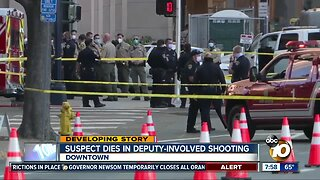 Suspect dies in deputy-involved shooting downtown
