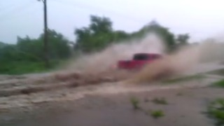 Floodwaters Swamp Roads and Homes in Mexico's Sinaloa State - Video