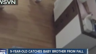 AMAZING VIDEO: Boy catches baby before he hits the floor - Video