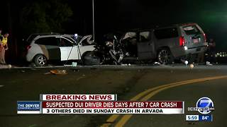 Driver in Arvada crash that killed 3 dies - Video