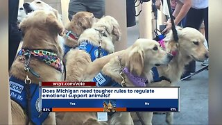 New bill would crack down on emotional support animals in Michigan