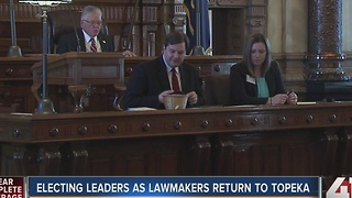 Lawmakers return to Topeka, elect leaders