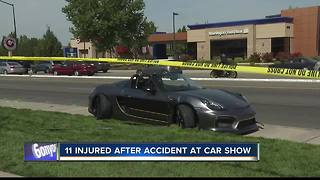 Porsche crashes into crowd at Boise car show injuring Eleven - Video