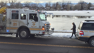 Ice training rescue at reunion park - Video