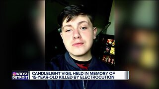 Candlelight vigil held in memory of 15-year-old killed by electrocution