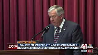New Gov. Parson: 'Time for a fresh start' in MO - Video