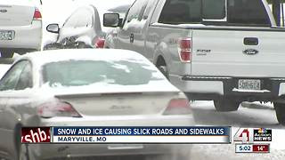 Northwest Missouri residents see more snow than ice - Video