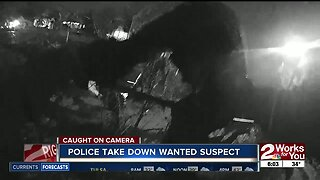 Police Take Down Wanted Suspect
