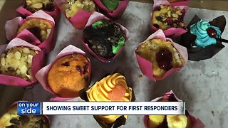 Wisconsin woman brings sweet treats to Cleveland first responders
