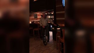 Why Unicycles And Bars Don't Mix - Video