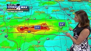 Water spouts, flooding and rain throughout Wisconsin Friday afternoon