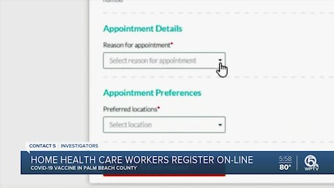 Home health care workers can now register online for COVID-19 vaccine