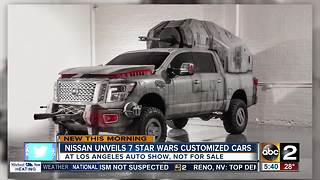 Nissan unveils 7 Star Wars customized cars - Video