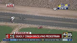 One dead after car hits pedestrians pushing vehicle in Avondale - Video