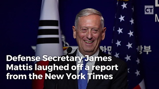 """Mattis Laughs Off NYT Report about WH """"Frustration"""""""
