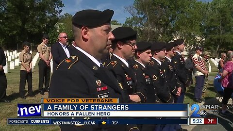 A family of strangers honors a fallen hero
