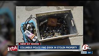 Columbus police recover $100K in stolen property - Video