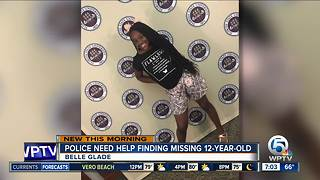 12-year-old Belle Glade girl missing