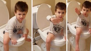 Stinky situation – Toddler wants mum to leave bathroom